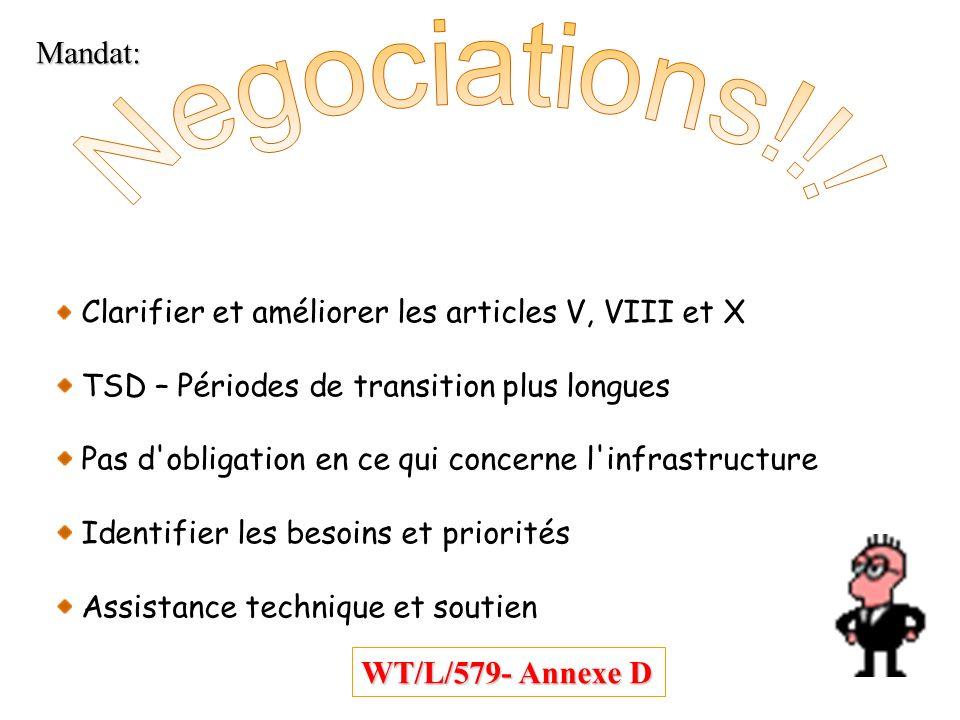 Negociations!!! Mandat: WT/L/579- Annexe D