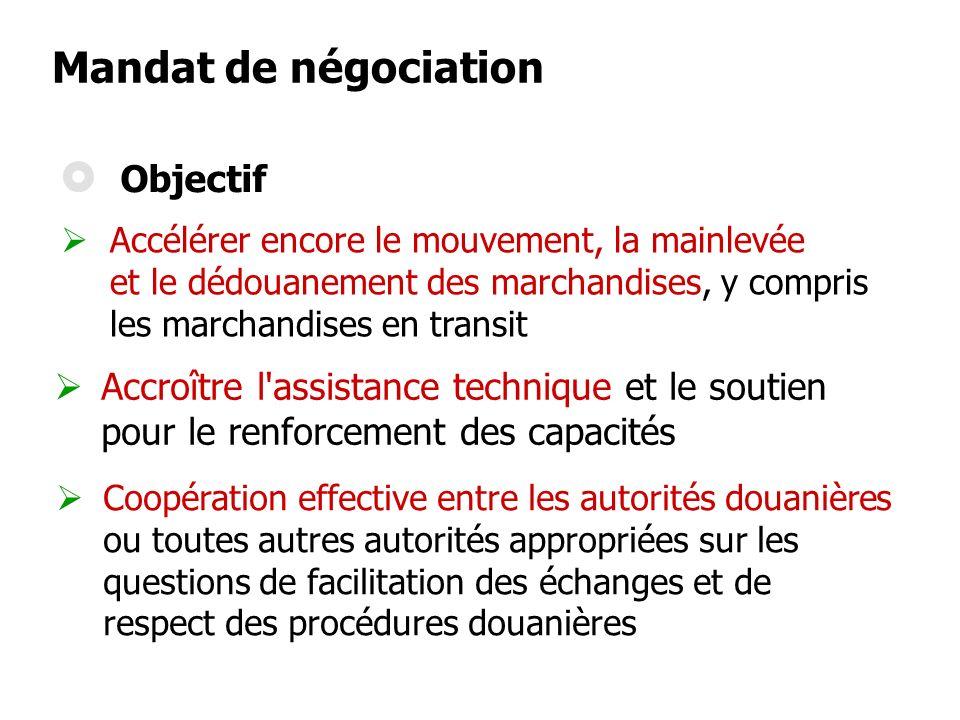 Mandat de négociation Objectif