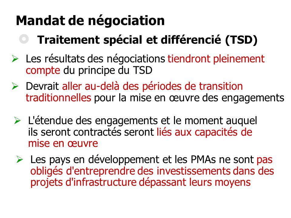 Traitement spécial et différencié (TSD)