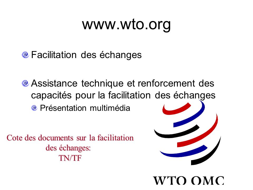 Cote des documents sur la facilitation