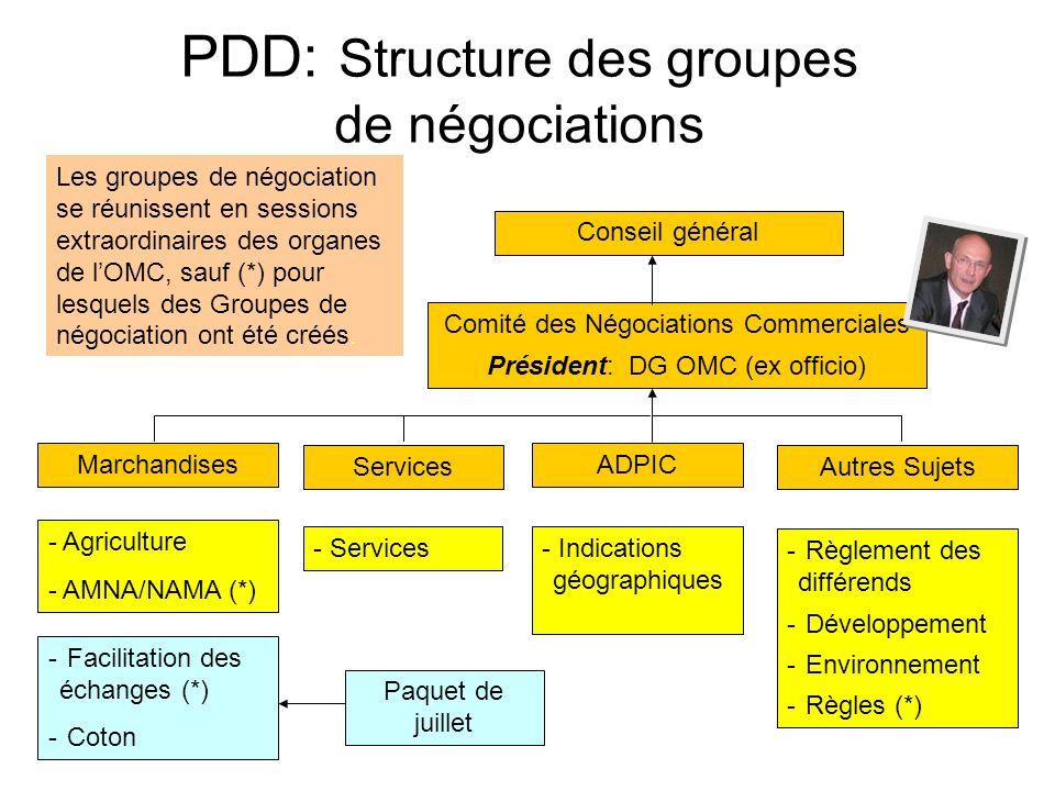PDD: Structure des groupes de négociations