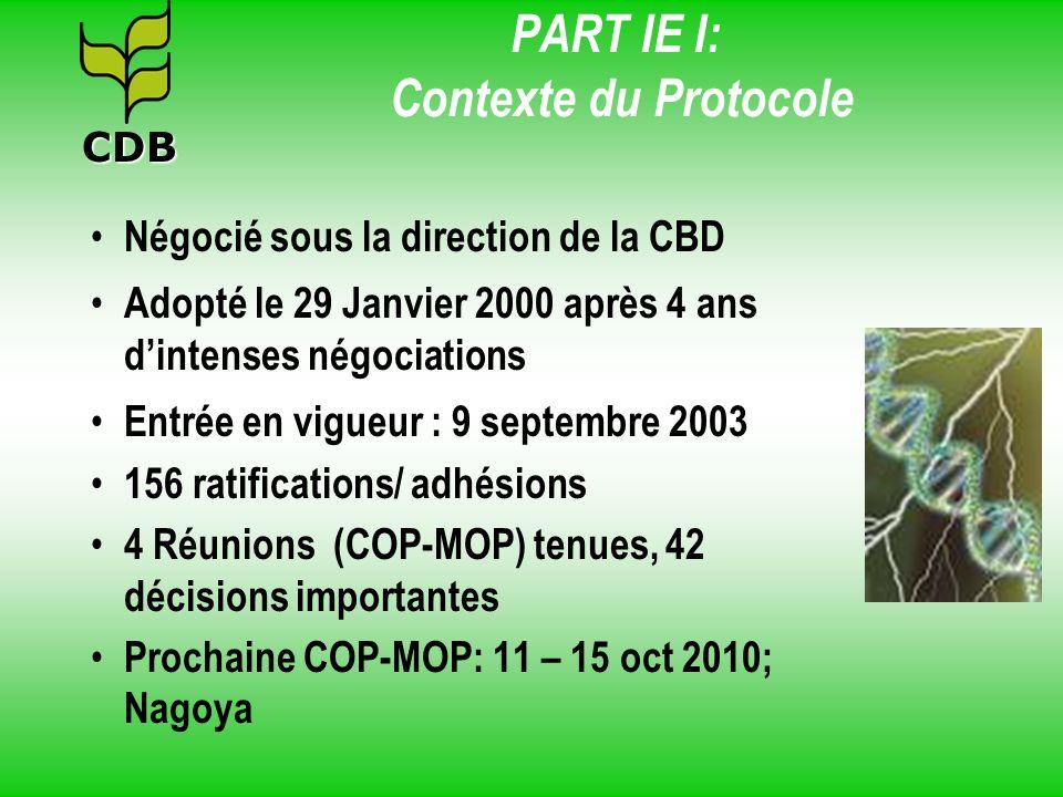 PART IE I: Contexte du Protocole