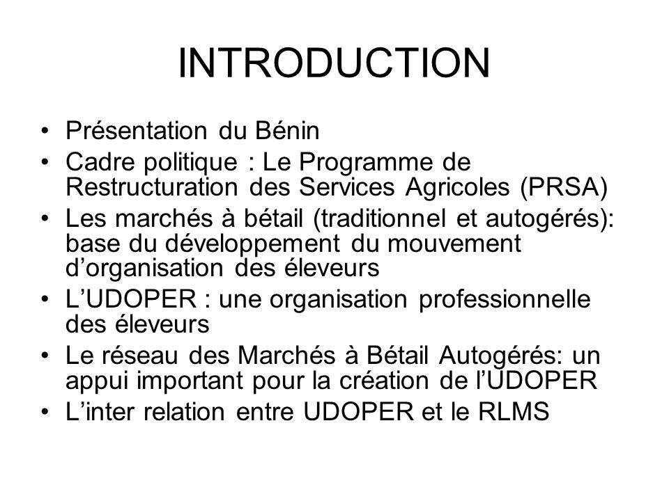 INTRODUCTION Présentation du Bénin
