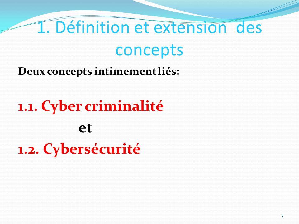 1. Définition et extension des concepts