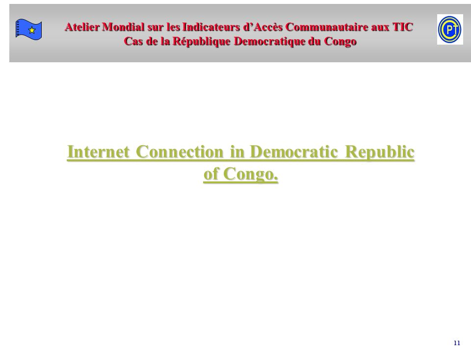 Internet Connection in Democratic Republic of Congo.