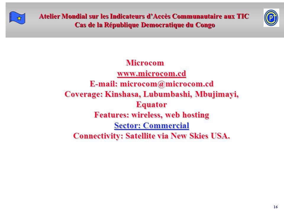 Microcom www. microcom. cd E-mail: microcom@microcom