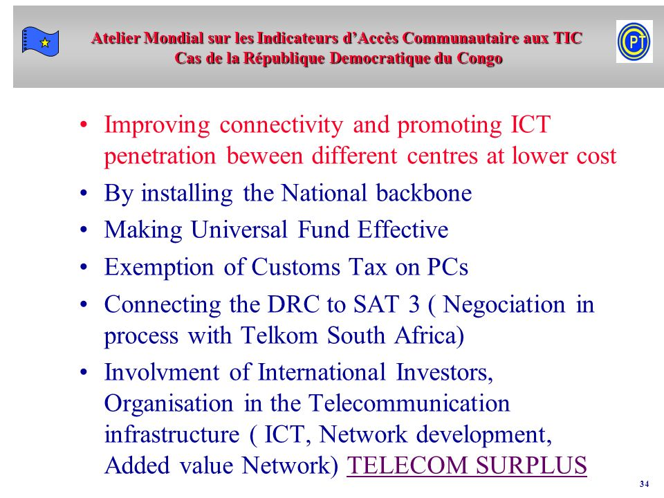 Improving connectivity and promoting ICT penetration beween different centres at lower cost