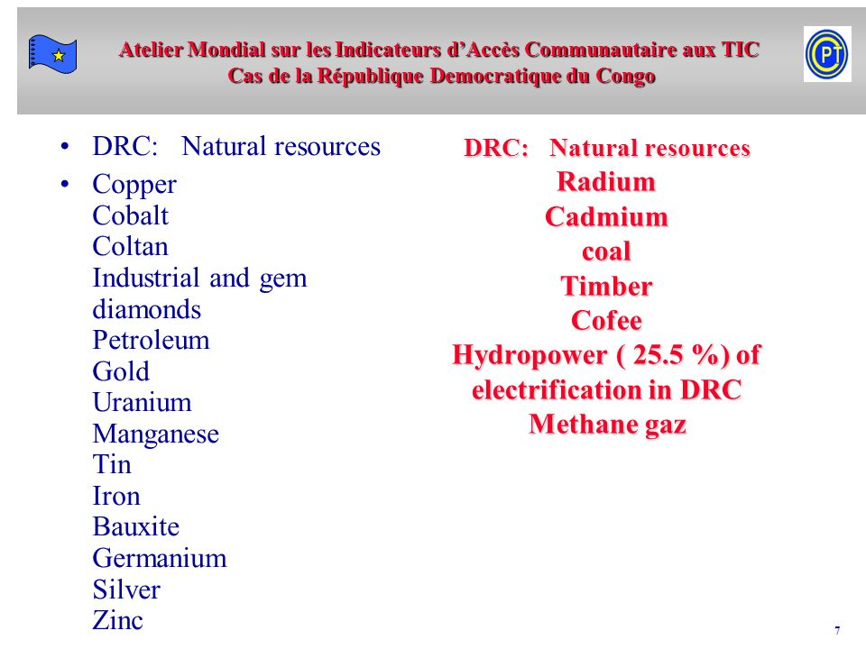 DRC: Natural resources
