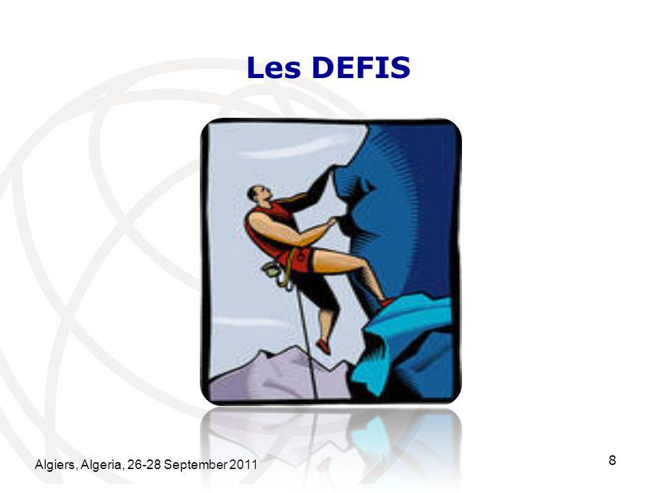 Les DEFIS Algiers, Algeria, 26-28 September 2011