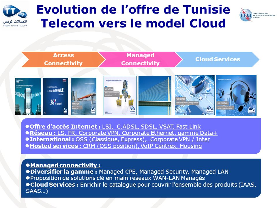 Evolution de l'offre de Tunisie Telecom vers le model Cloud