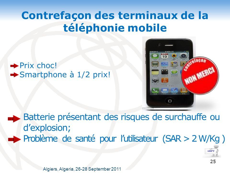 Contrefaçon des terminaux de la téléphonie mobile