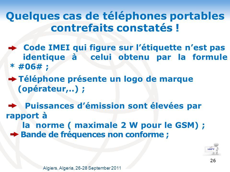 Quelques cas de téléphones portables contrefaits constatés !