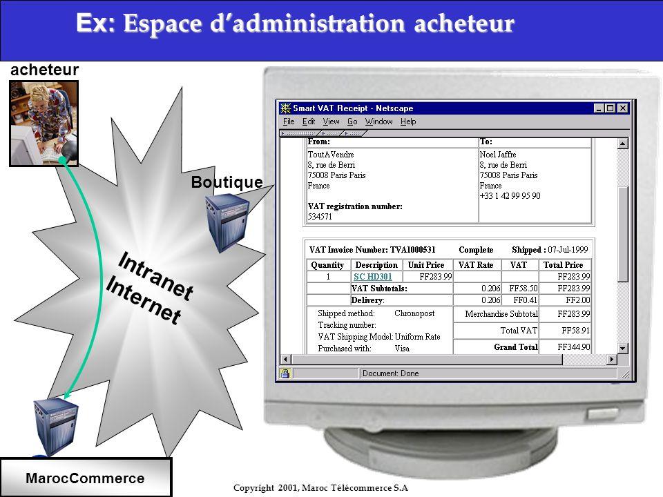 Ex: Espace d'administration acheteur