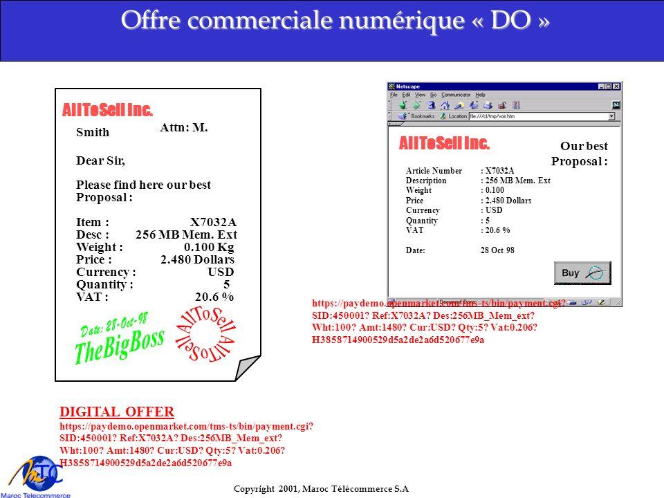 Offre commerciale numérique « DO »