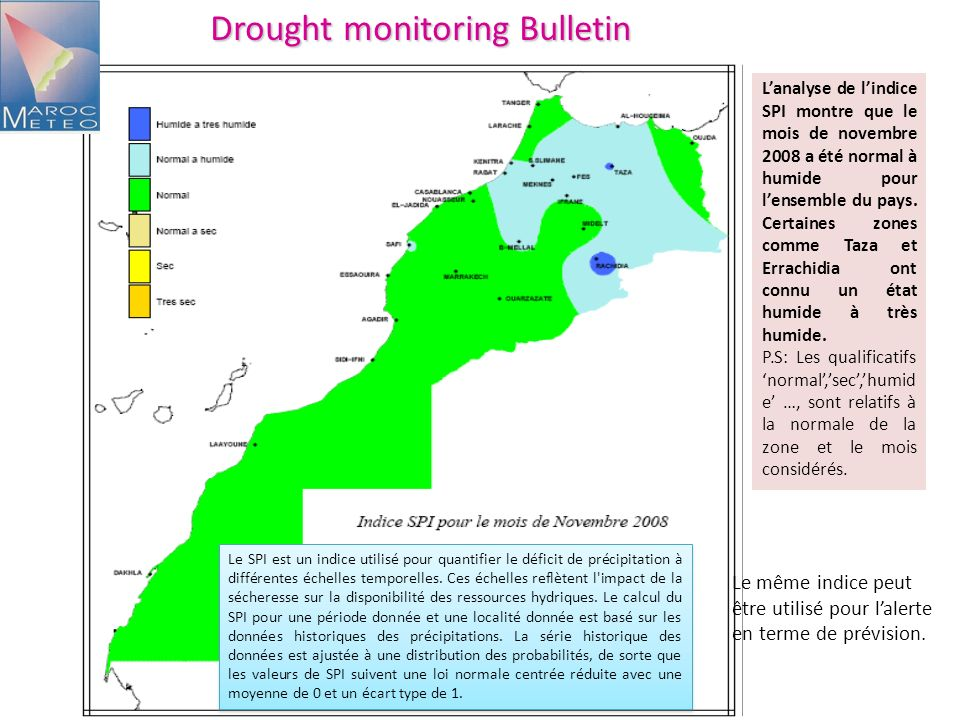Drought monitoring Bulletin