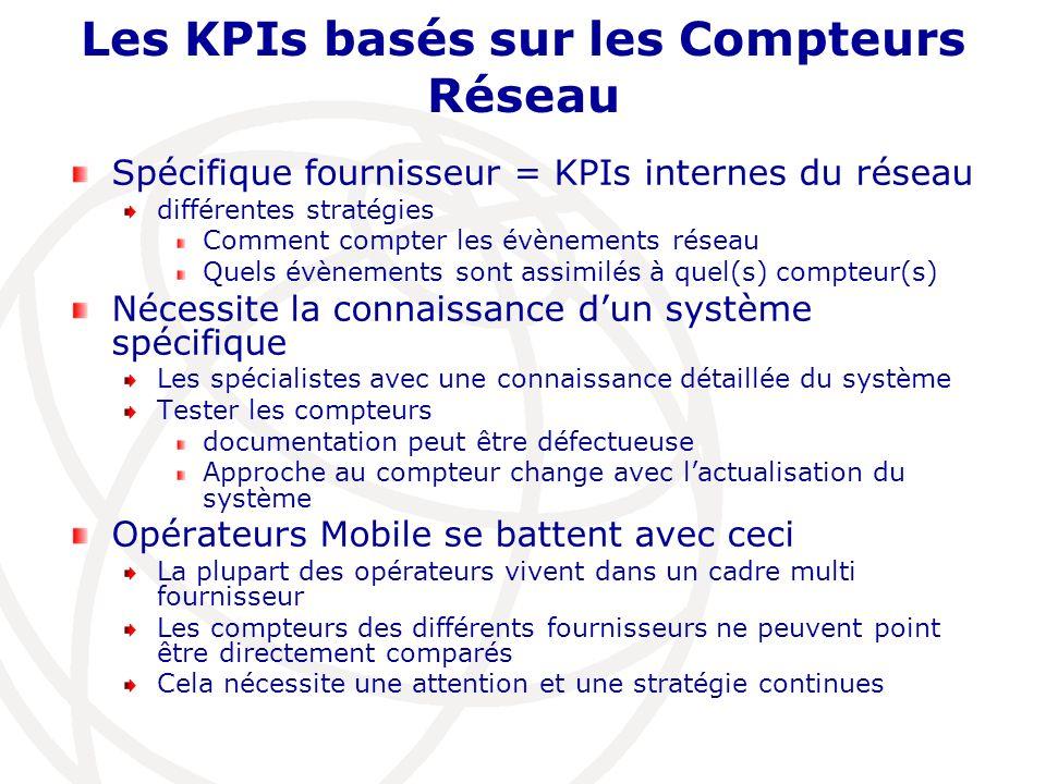 Les KPIs basés sur les Compteurs Réseau