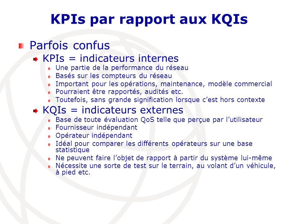 KPIs par rapport aux KQIs