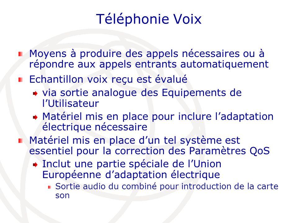 Téléphonie VoixMoyens à produire des appels nécessaires ou à répondre aux appels entrants automatiquement.