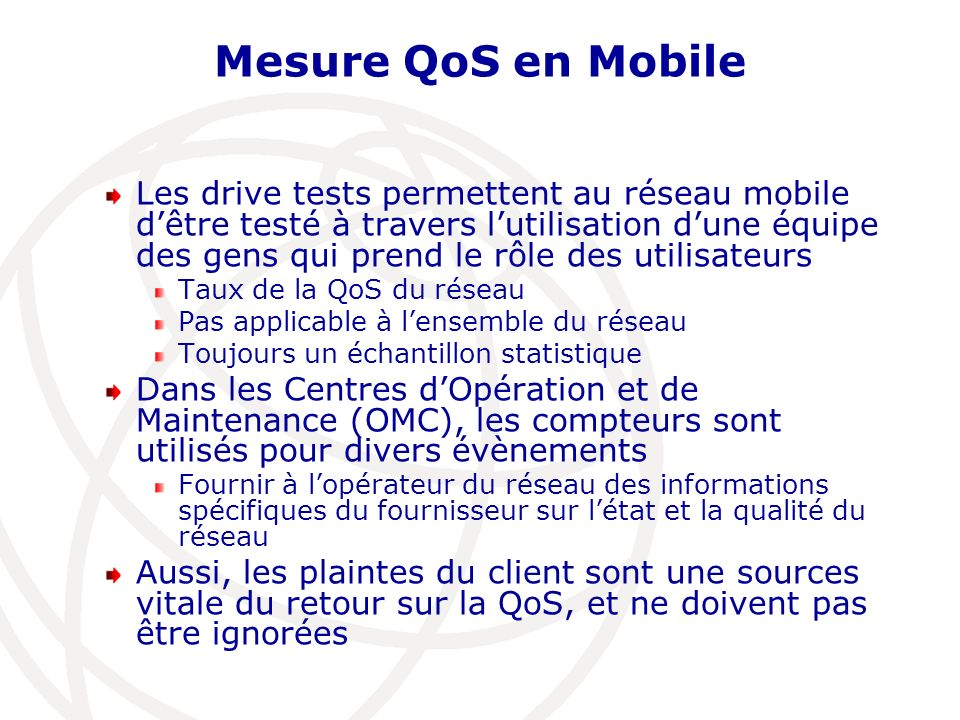 Mesure QoS en Mobile
