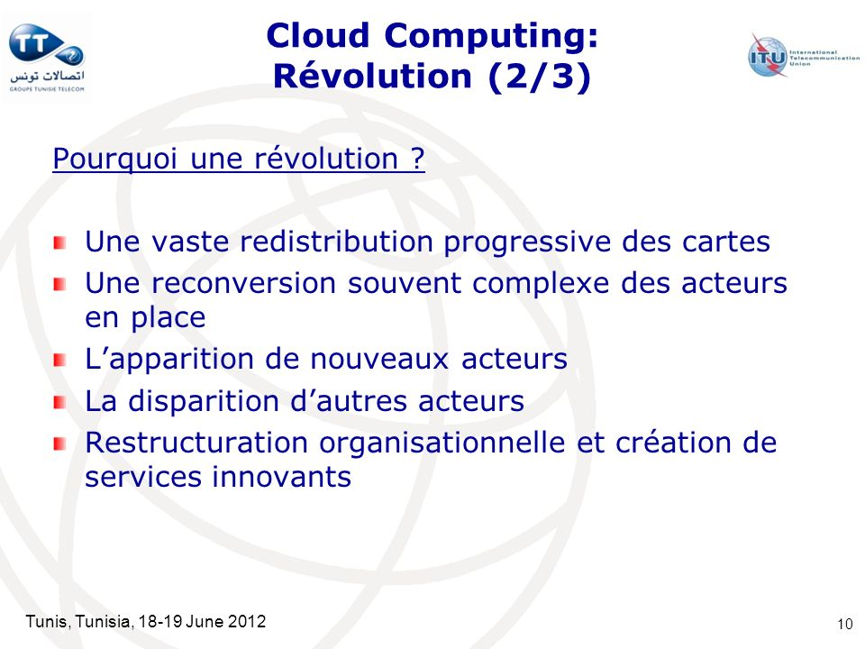 Cloud Computing: Révolution (2/3)