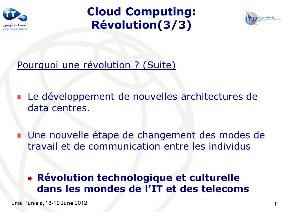 Cloud Computing: Révolution(3/3)