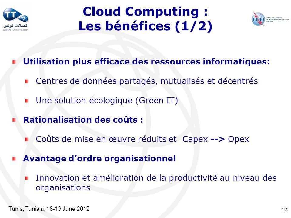 Cloud Computing : Les bénéfices (1/2)