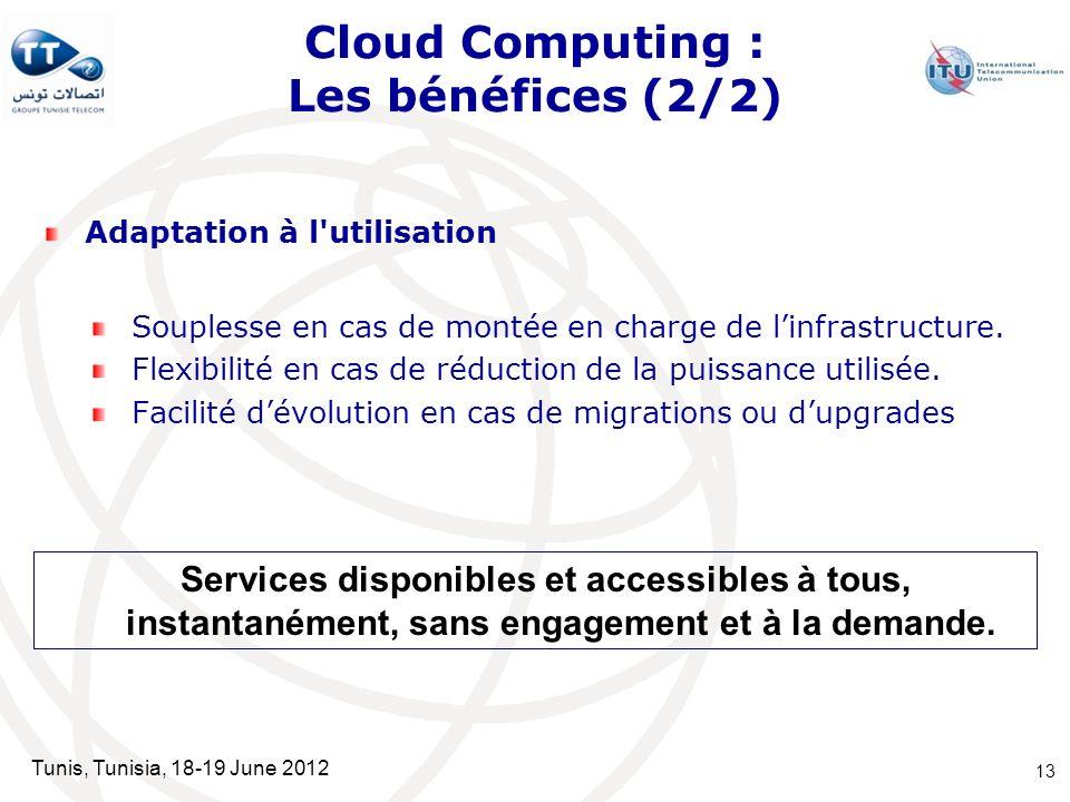 Cloud Computing : Les bénéfices (2/2)