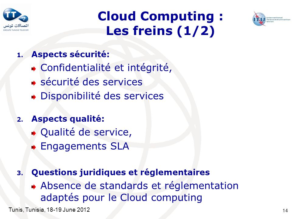 Cloud Computing : Les freins (1/2)