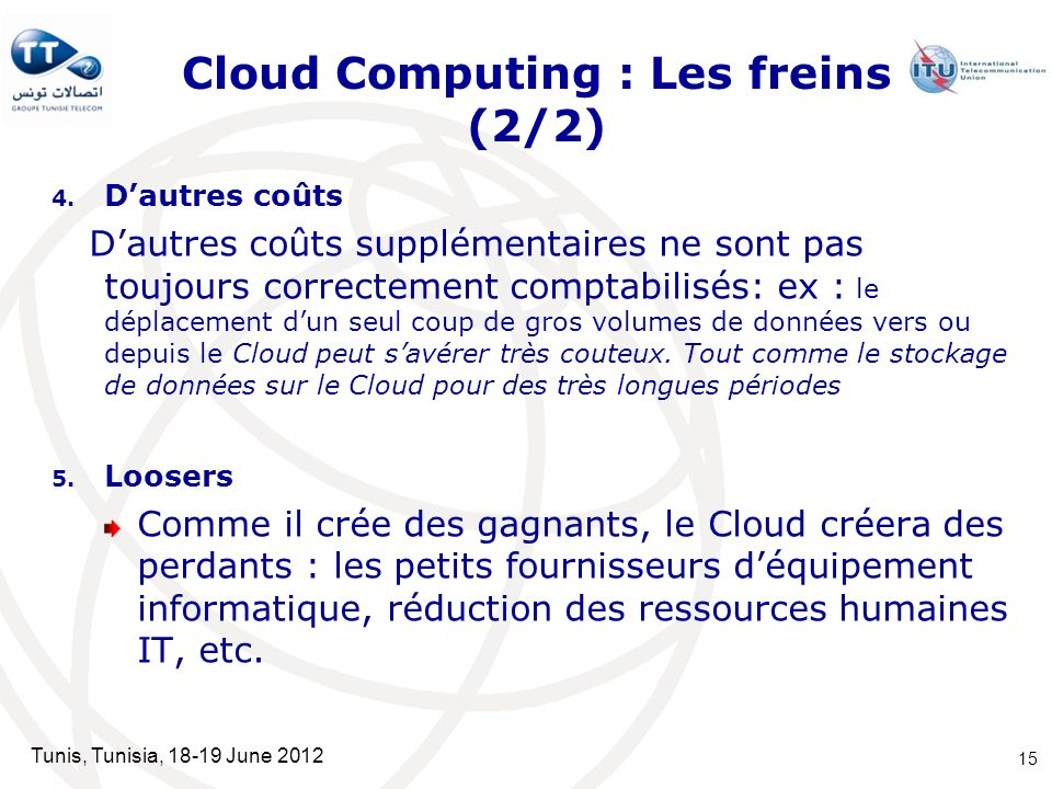 Cloud Computing : Les freins (2/2)