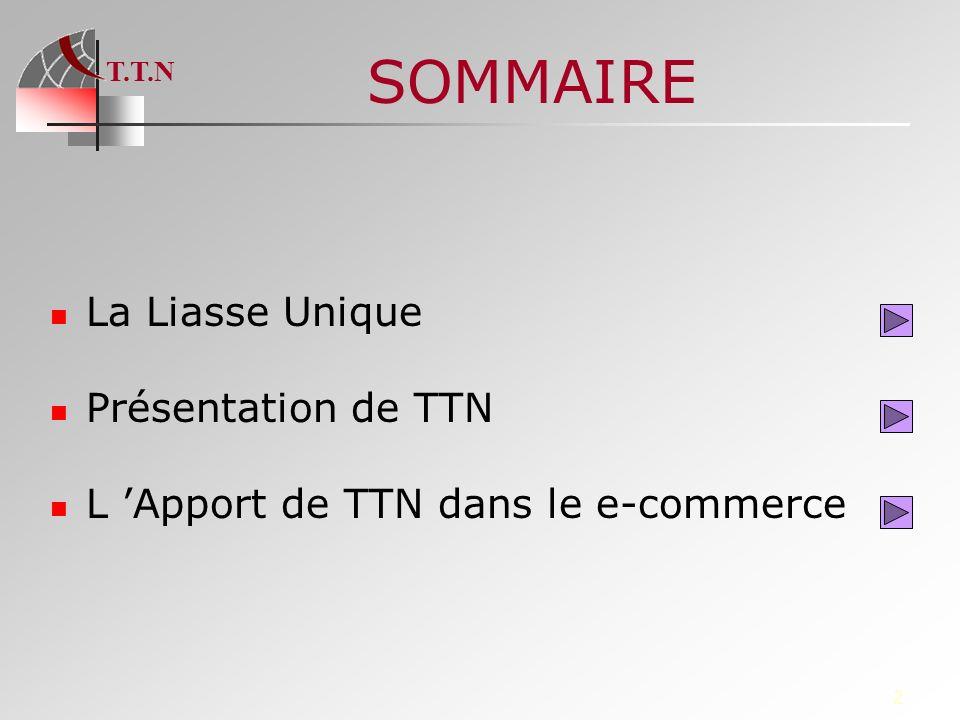SOMMAIRE La Liasse Unique Présentation de TTN