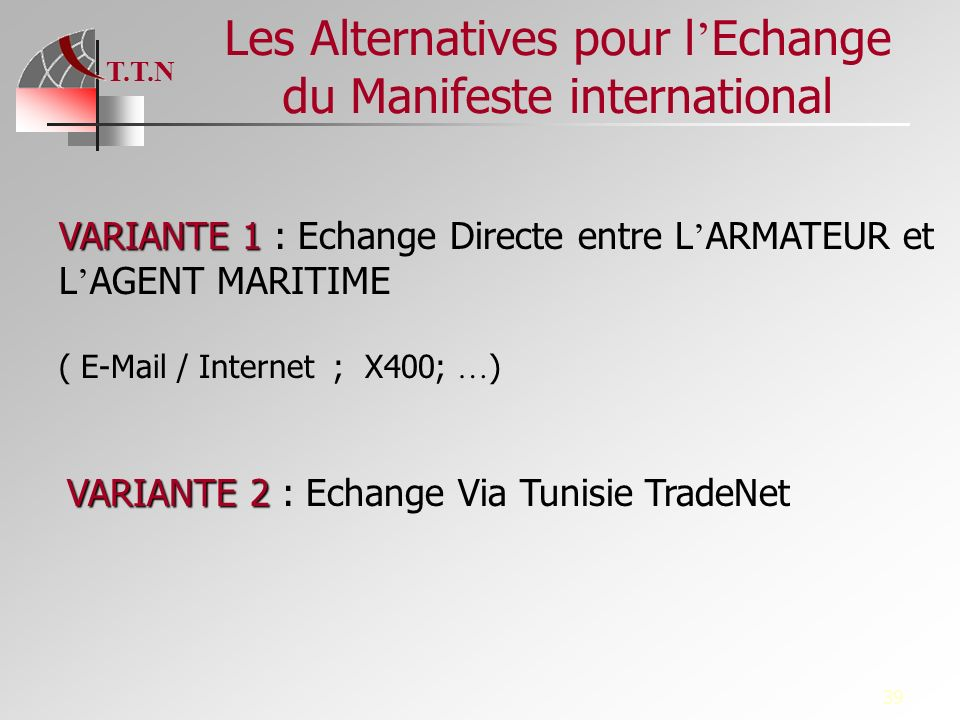 Les Alternatives pour l'Echange du Manifeste international