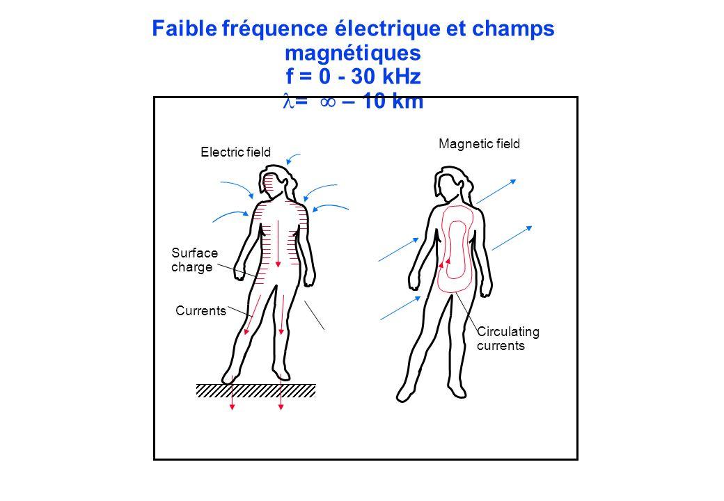 Faible fréquence électrique et champs magnétiques