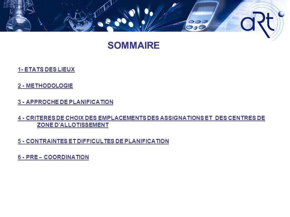 SOMMAIRE 1- ETATS DES LIEUX 2 - METHODOLOGIE