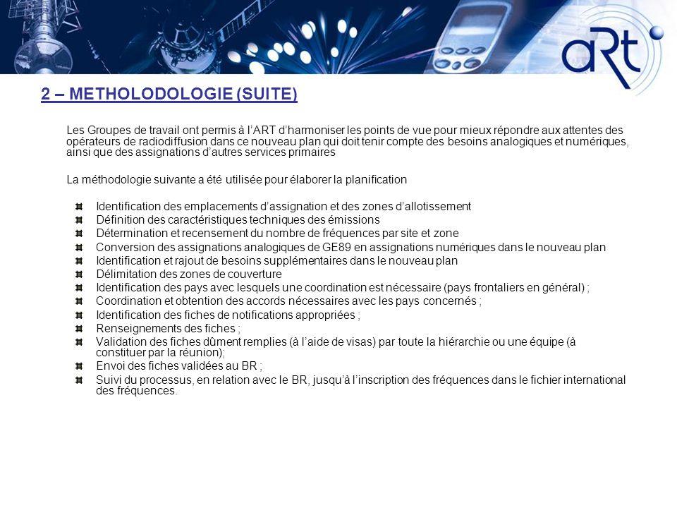2 – METHOLODOLOGIE (SUITE)
