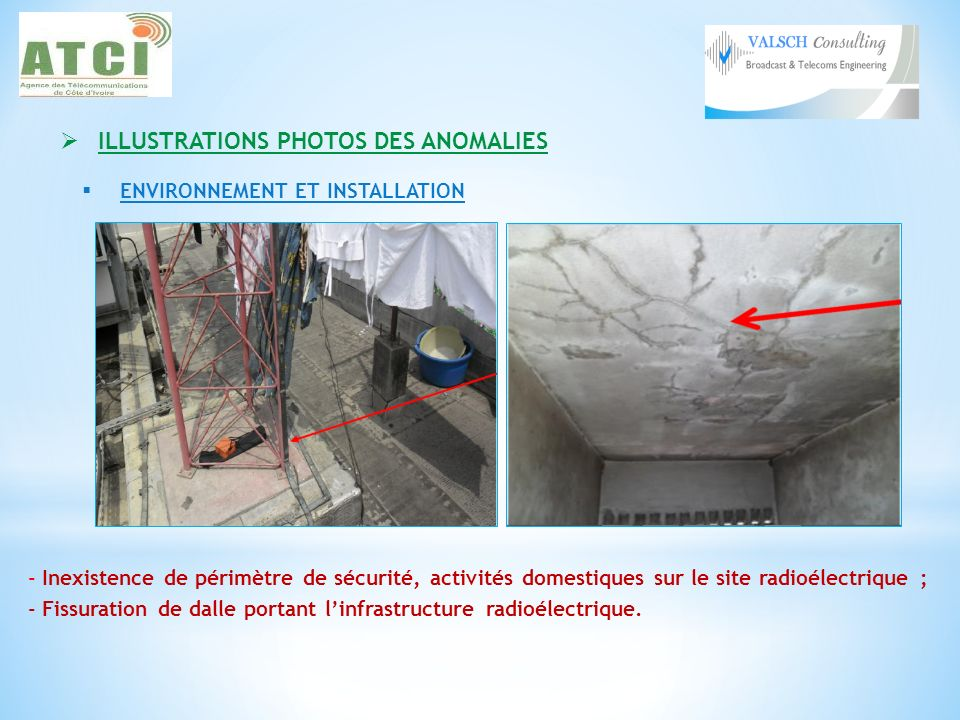 ILLUSTRATIONS PHOTOS DES ANOMALIES