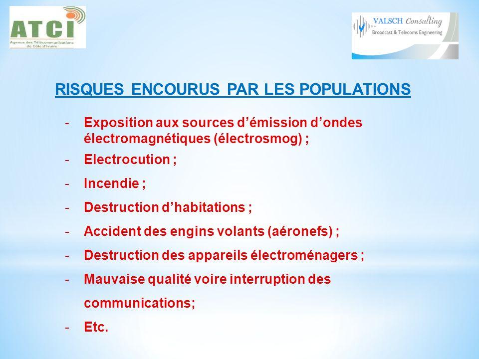 RISQUES ENCOURUS PAR LES POPULATIONS
