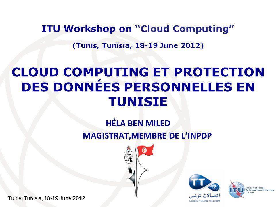 CLOUD COMPUTING ET PROTECTION DES DONNÉES PERSONNELLES EN TUNISIE