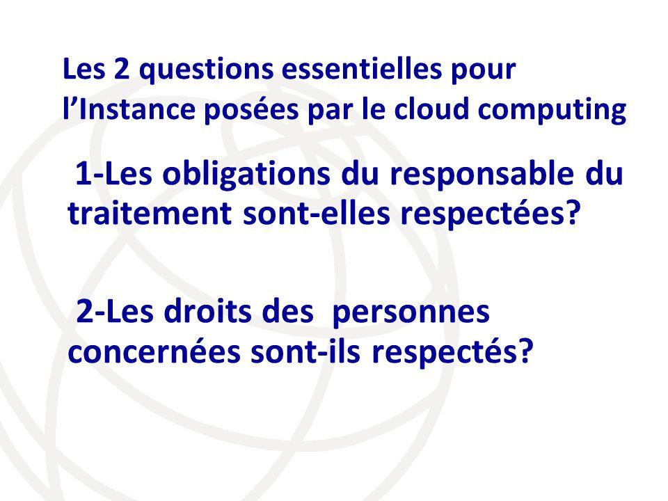 2-Les droits des personnes concernées sont-ils respectés