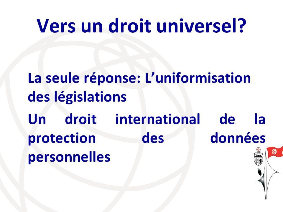 Vers un droit universel