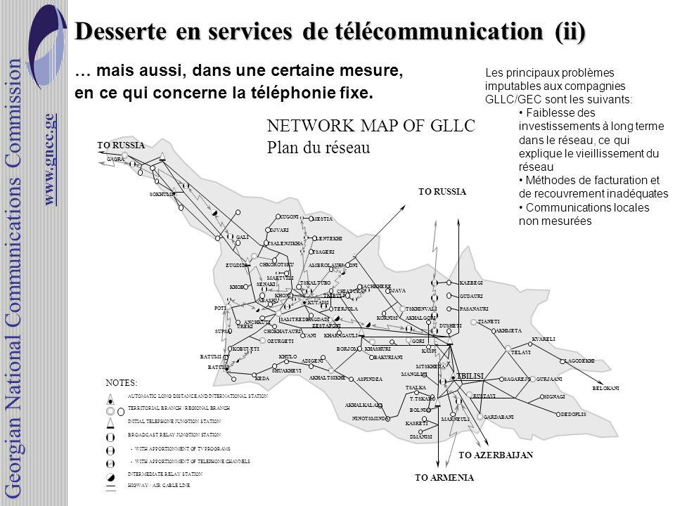 Desserte en services de télécommunication (ii)