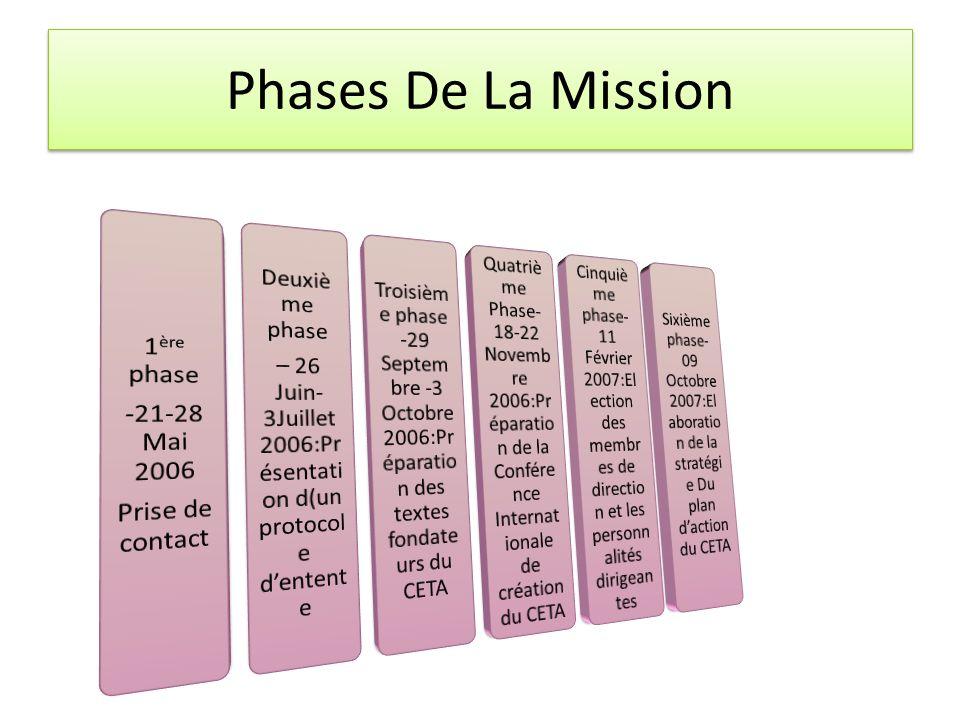 – 26 Juin-3Juillet 2006:Présentation d(un protocole d'entente
