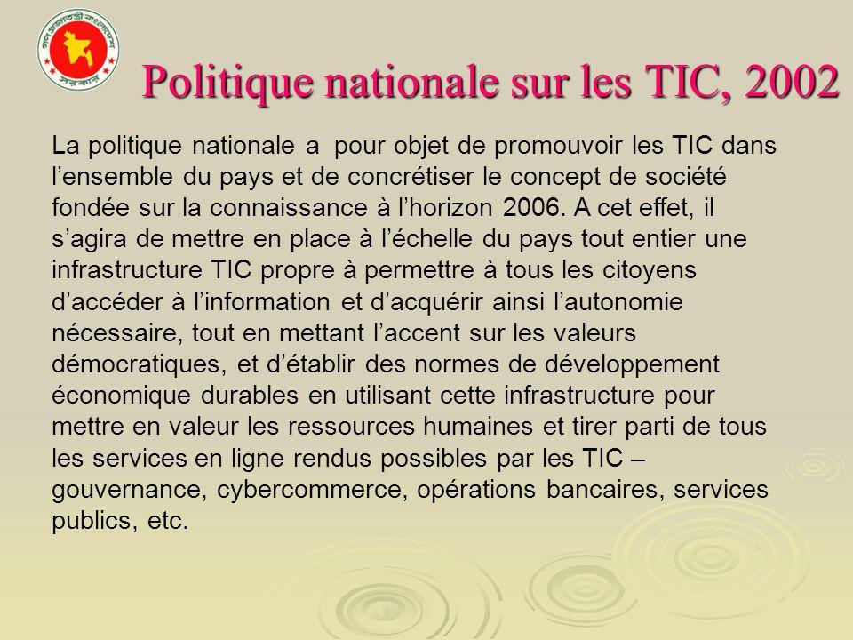 Politique nationale sur les TIC, 2002