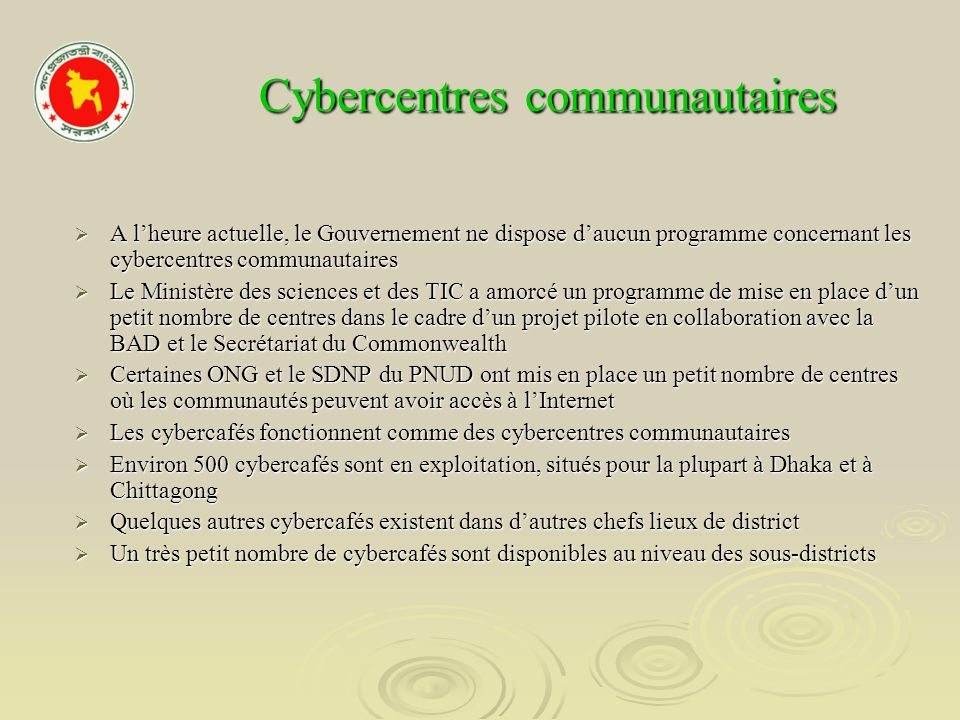 Cybercentres communautaires