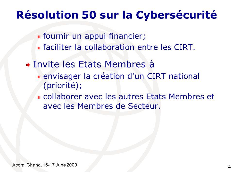 Résolution 50 sur la Cybersécurité