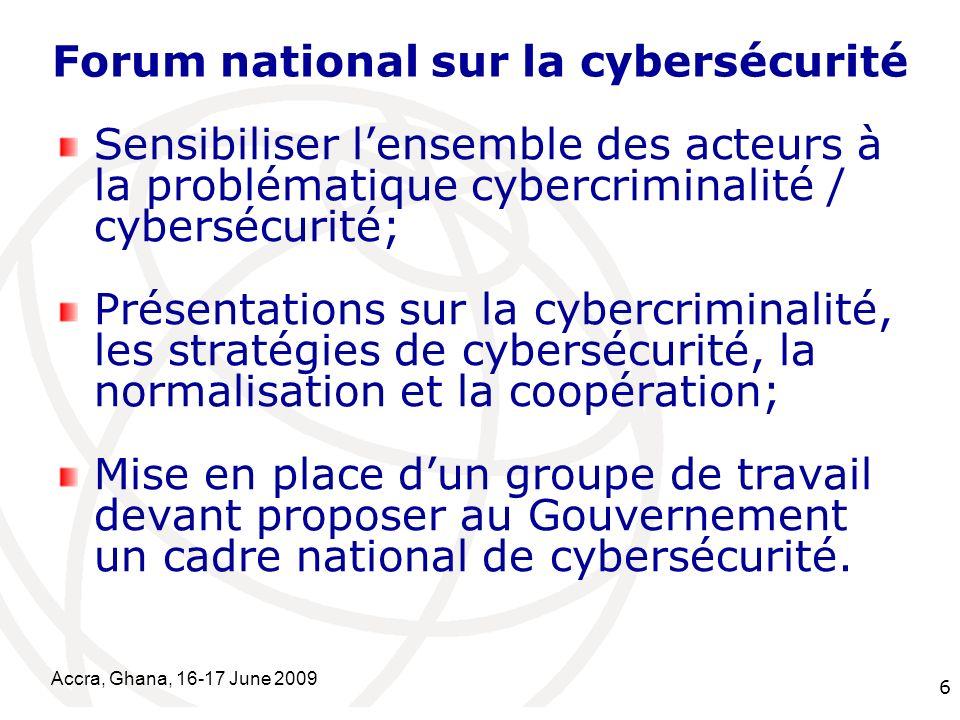 Forum national sur la cybersécurité