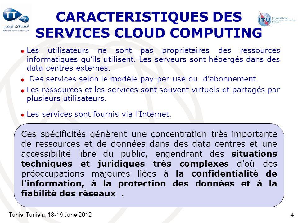 CARACTERISTIQUES DES SERVICES CLOUD COMPUTING