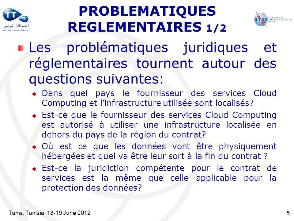 PROBLEMATIQUES REGLEMENTAIRES 1/2