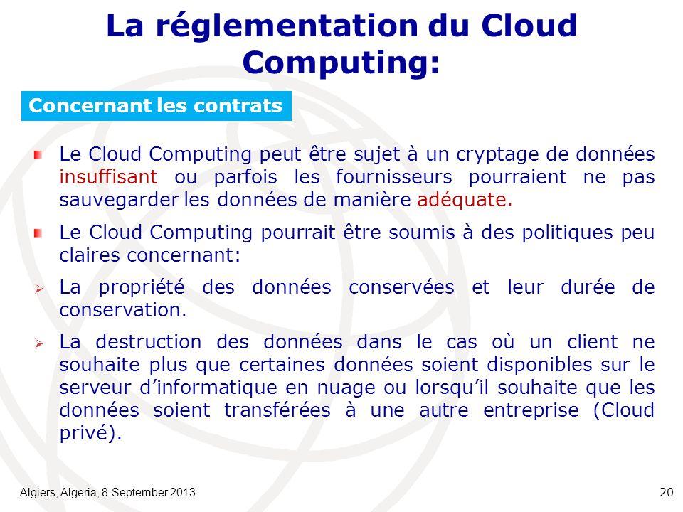 La réglementation du Cloud Computing: