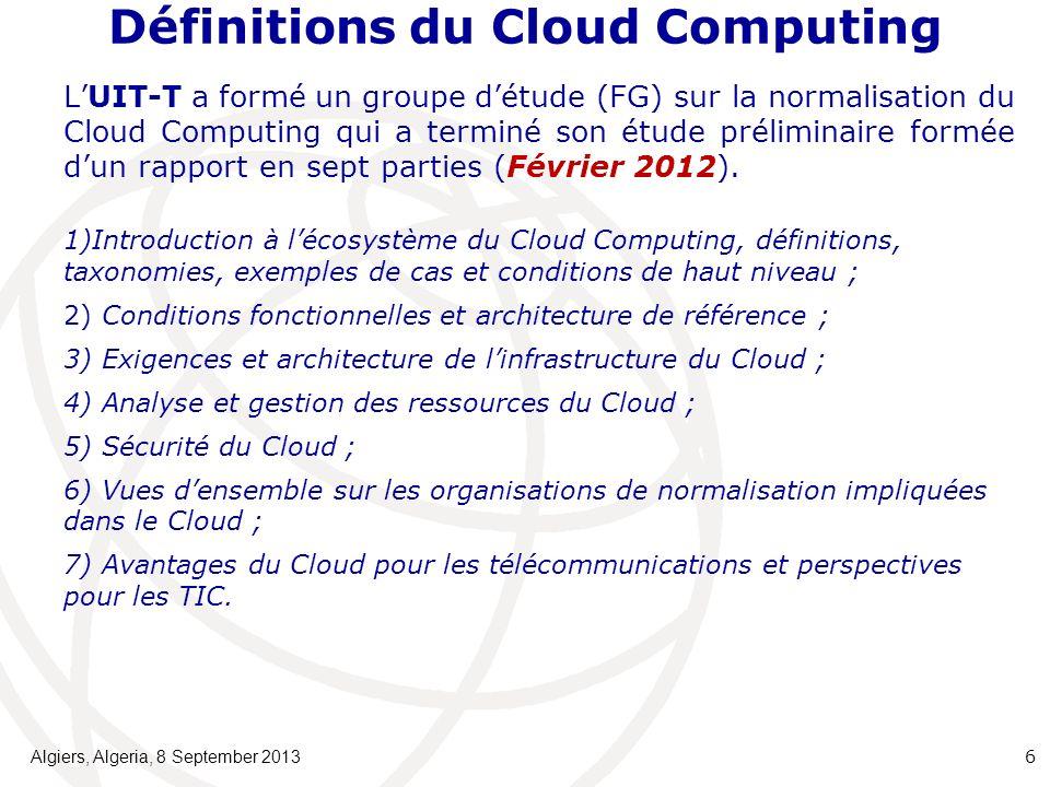 Définitions du Cloud Computing