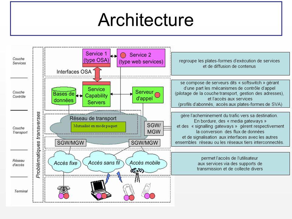 Architecture regroupe les plates-formes d'exécution de services